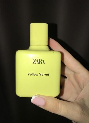 Zara yellow lelvet духи