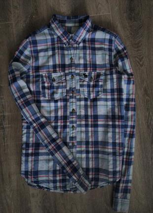 Рубашка в клетку abercrombie&fitch