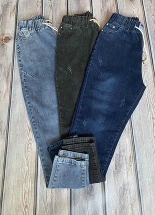 Джинсы с потертостями, джеггинсы с высокой посадкой, стрейчевые  джинсы р 50-58