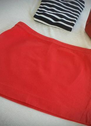 Красная юбка mango
