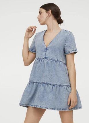 H&m плаття , платье джинс 36р.