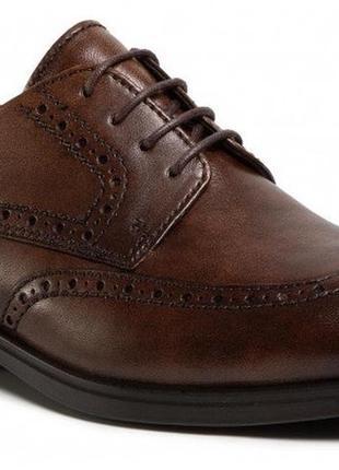 Мужские, кожаные туфли-оксфорды ecco melbourne zm4710