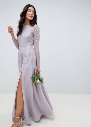 Невероятное лавандовое платье размер xs
