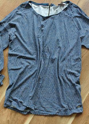 Джемпер синий в мелкий принт