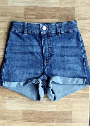 Шорты джинсовые с высокой посадкой h&m