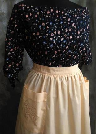 Романтичная, нежная, блуза в цветочек из вискозы на лето