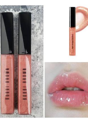 Блеск для губ bobbi brown high shimmer lip gloss bellini