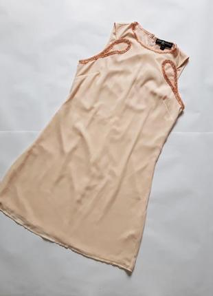 Платье легкое шифоновое с камушками  в отличном состоянии little mistress