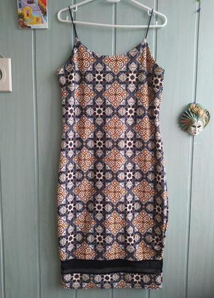 Сарафан, платье миди с прозрачной вставкой