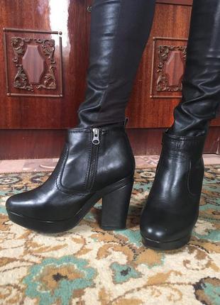 Ботильоны/ботинки натуральная кожа top shop испания