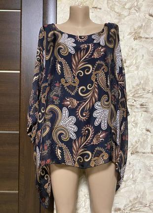 Роскошная шёлковая блуза в принт,оверсайз,audrey