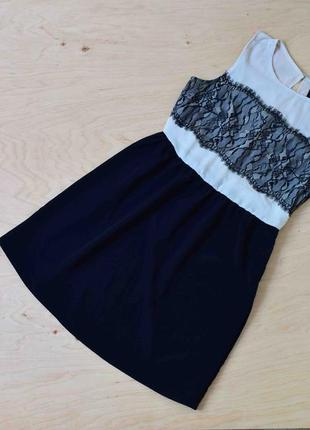Платье легкое летнее шифоновое с кружевом asos