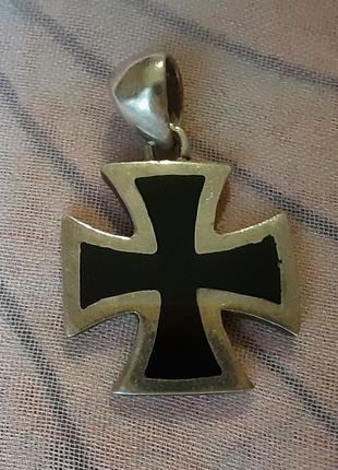 Серебряный кулон крест 925 проба вес 2,8 гр.