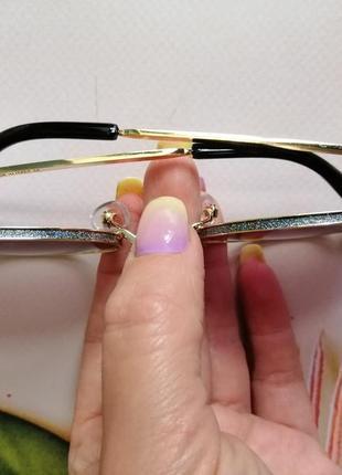 Эксклюзивные брендовые солнцезащитные женские очки с блёстками2 фото
