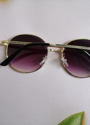 Эксклюзивные брендовые солнцезащитные женские очки с блёстками5 фото