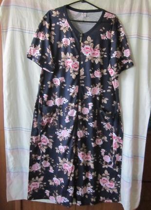 Халаты женские хлопок 100 узбекистан баталы 56-66 размеры