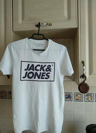 Брендовая футболка фирмы jack jones.оригинал.s-ка.