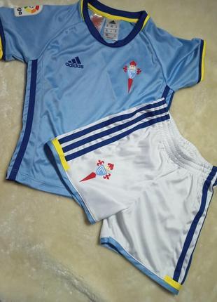 Детский футбольная форма adidas rc celta de vigo. футболка и шорты адидас