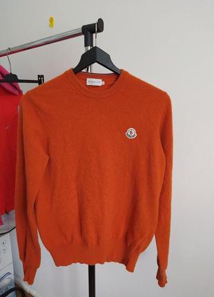 Женский шерстяной оригинальный свитер moncler