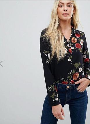 Блузка в трендовый цветочный принт brave soul