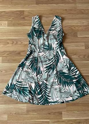 Платье в пальмы h&m