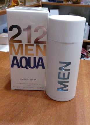 Carolina herrera 212 men aqua limited edition оригинал_eau de toilette 5 мл затест