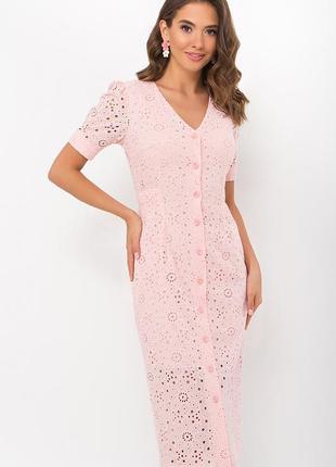 Яркое платье /прошва + батист (100% хлопок-5 цветов)