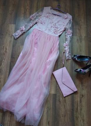Выпускное платье, вечернее платье нежное и нарядное