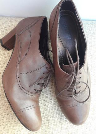 Кожаные туфельки-батильоны ...