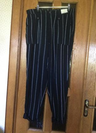 Льняные { лен + вискоза} брюки f&f