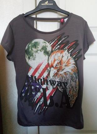 Стильная футболка h&m на размер s, xs.