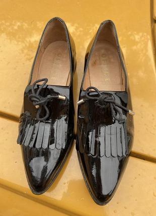 Лоферы (туфли) кожа, лак. фирма office/испания.размер 38