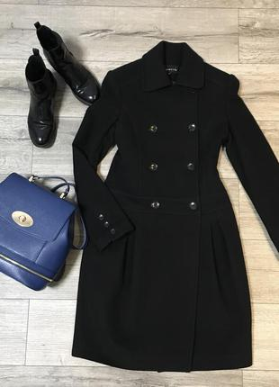 Срочно!!!пальто женское, натуральное, кашемир с шерстью, черное