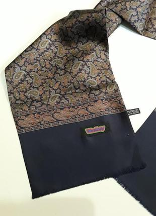Фирменный шелковый шарф шарфик италия