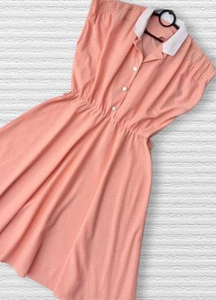 Шикарное нежнейшее винтажное платье в горошек