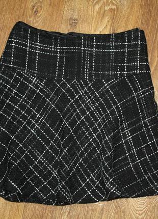 Мини юбка из твида
