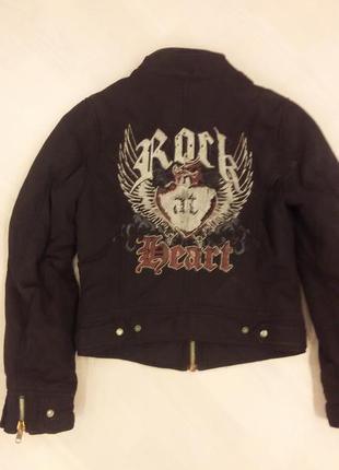 Куртка утепленная с вышивкой на спине