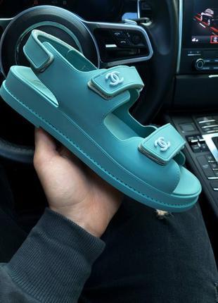 ❤ женские голубые резиновые босоножки sandals mint  ❤