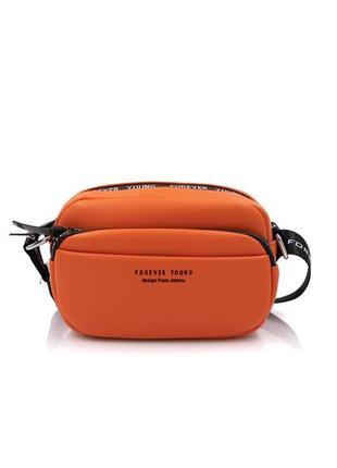 Сумка кроссбоди johnny оранжевая через плечо 58-018