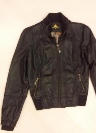 Куртка бомбер искусственная кожа демисезонная