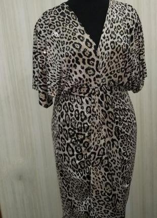 Платье с леопардовы принтом. нарядное платье. сукня .