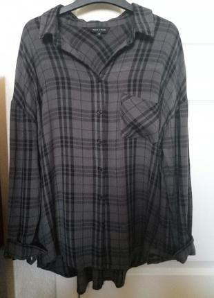 Рубашка в клетку new look из вискозы.