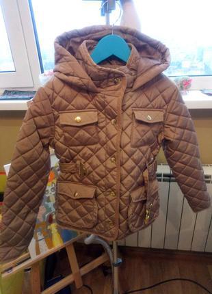 Демизонная стильная куртка 128р. (новая!)