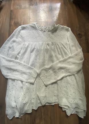 Легкая шифоновая блузка со звездочками
