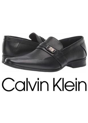 Мужские туфли лоферы calvin klein brighton. кожа. оригинал. размер us11