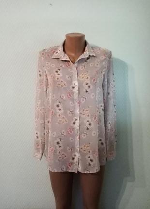 Нежнейшая шифоновая блуза-рубашка new look