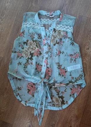 Майка блузка new look в цветочный принт
