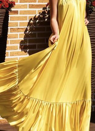 Желтый сарафан армани шёлк