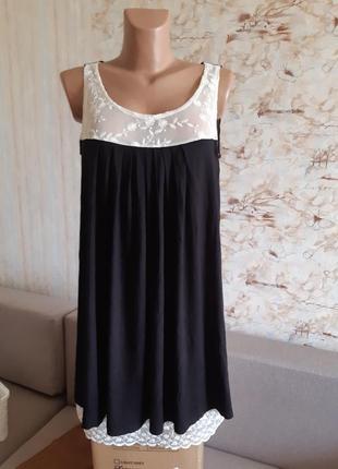 Элегантное романтическое летнее платье с кружевом