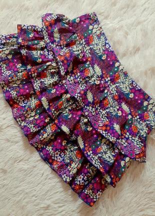Яркая легкая хлопковая юбка от papaya